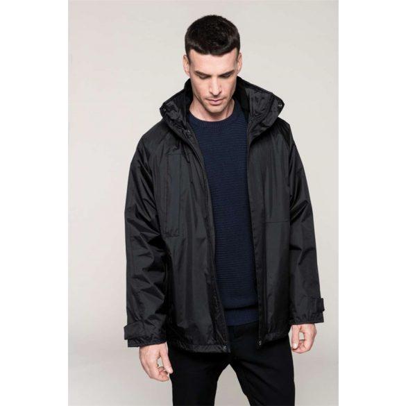 Kabát, fekete, parka 3in 1, 3xl