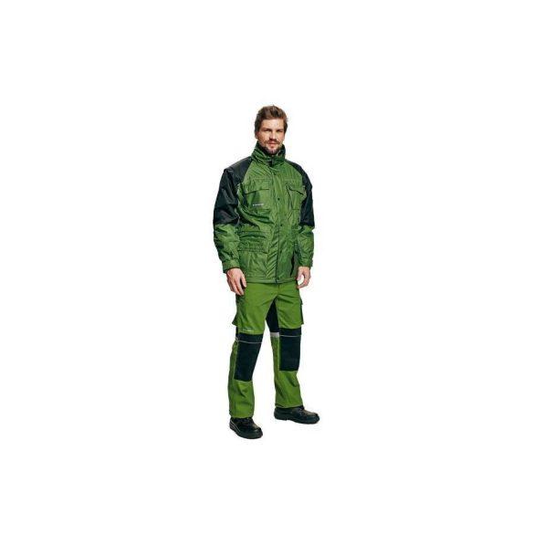 Stanmore télikabát, zöld/fekete, 2XL