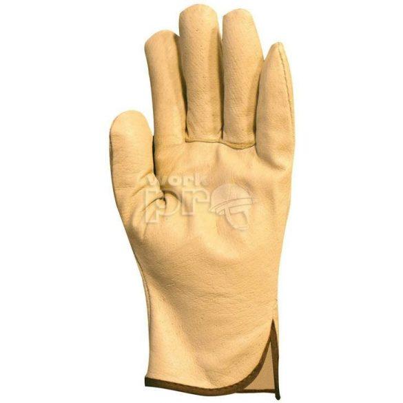 Kesztyű finom színsertés tenyér és kézhát, sárga, 10