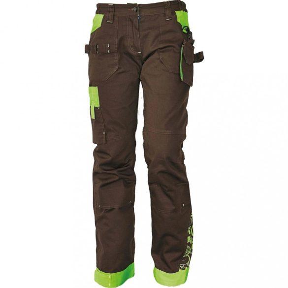 Yowie nadrág, női, barna/zöld 42