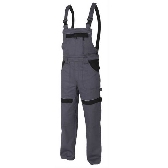 Cool Trend kantáros nadrág, szürke, 100% pamut, 50