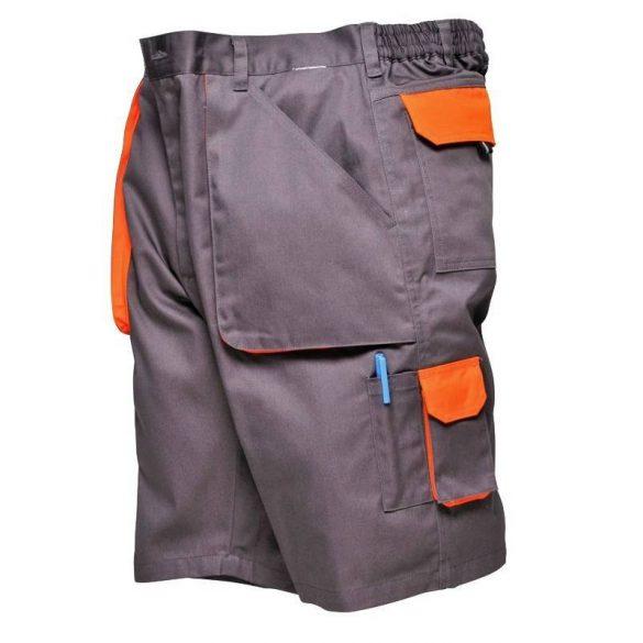 Texo Contrast rövidnadrág, Grey/Orange, XXL