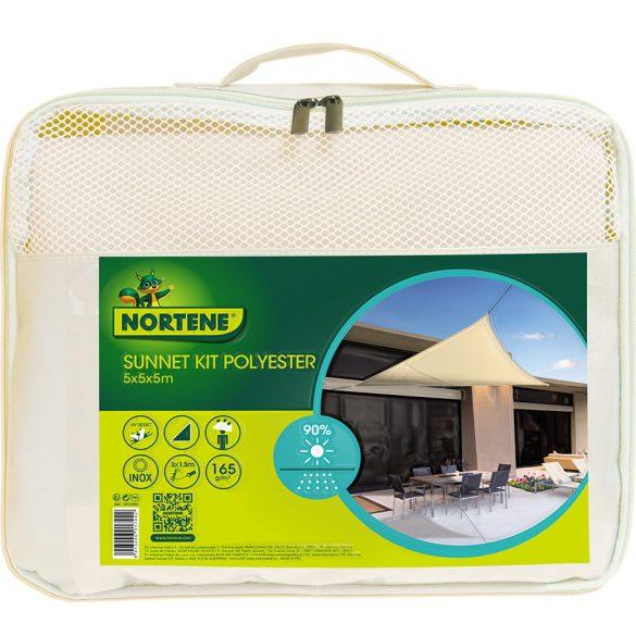 SUNNET KIT  Árnyékolóháló poliészter bézs 5x5x5m * 90%
