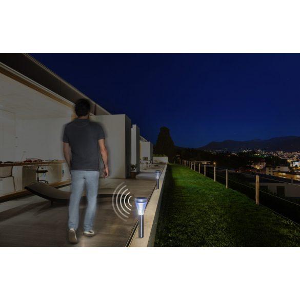 SENSEIS leszúrható napelemes lámpa ezüst 12 x 36 cm