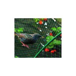 BIRDNET HDPE extrudált madárháló, rombusz szemformájú zöld 4 x 5