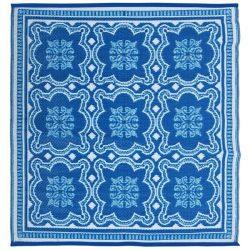 Kültéri szőnyeg, kék csempe mintával OC23