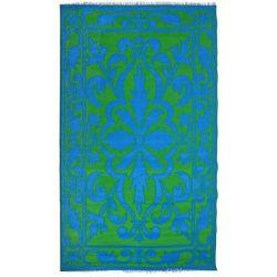 Kültéri szőnyeg, kék-zöld perzsa mintával OC26