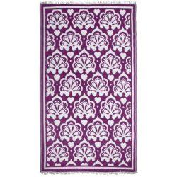 Kültéri szőnyeg, lila-fehér perzsa mintával OC27