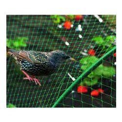 BIRDNET HDPE extrudált madárháló, rombusz szemformájú zöld 4 x 250