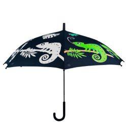 Esőre színváltós kaméleon mintás gyerek esernyő KG222